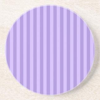 Thin Stripes - Violet and Light Violet Coaster