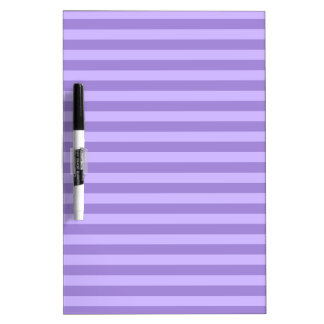 Thin Stripes - Violet and Light Violet Dry Erase Board