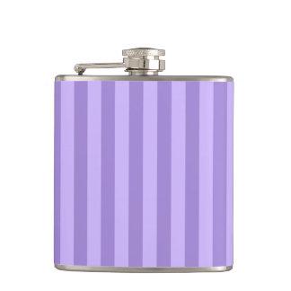 Thin Stripes - Violet and Light Violet Hip Flask