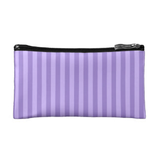 Thin Stripes - Violet and Light Violet Makeup Bag