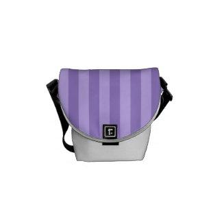 Thin Stripes - Violet and Light Violet Messenger Bag
