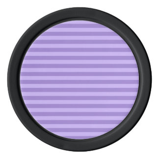Thin Stripes - Violet and Light Violet Poker Chips