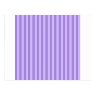 Thin Stripes - Violet and Light Violet Postcard