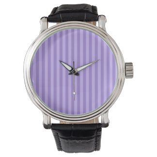 Thin Stripes - Violet and Light Violet Watch