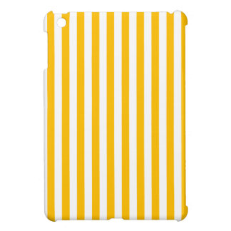 Thin Stripes - White and Amber Cover For The iPad Mini