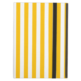 Thin Stripes - White and Amber iPad Air Case