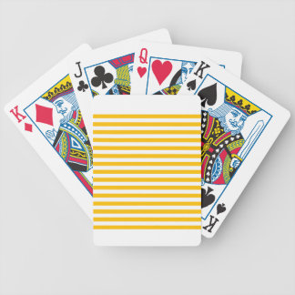 Thin Stripes - White and Amber Poker Deck