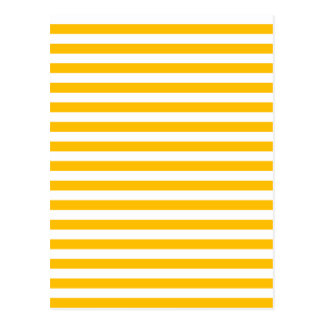 Thin Stripes - White and Amber Postcard