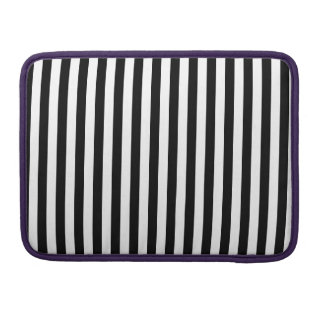 Thin Stripes - White and Black Sleeve For MacBook Pro