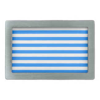Thin Stripes - White and Blue Belt Buckles