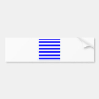 Thin Stripes - White and Blue Bumper Stickers