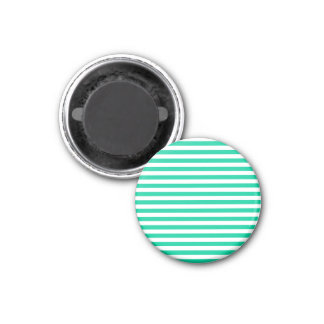 Thin Stripes - White and Caribbean Green Magnet