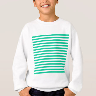 Thin Stripes - White and Caribbean Green Sweatshirt