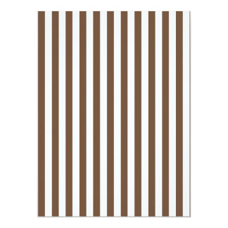 Thin Stripes - White and Coffee Card