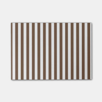 Thin Stripes - White and Coffee Post-it Notes