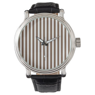 Thin Stripes - White and Coffee Watch