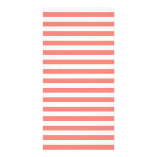 Thin Stripes - White and Coral Pink Photo Card