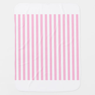 Thin Stripes - White and Cotton Candy Baby Blanket