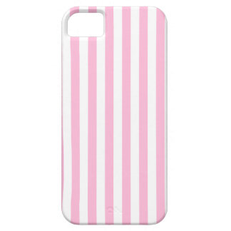 Thin Stripes - White and Cotton Candy Case For The iPhone 5