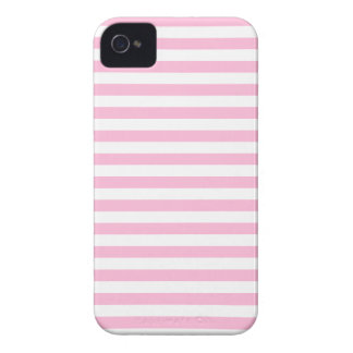 Thin Stripes - White and Cotton Candy Pink iPhone 4 Cases