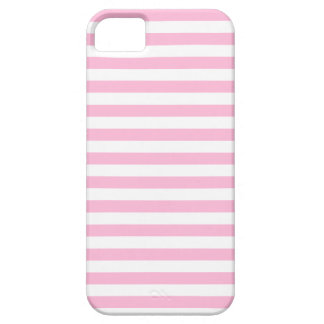 Thin Stripes - White and Cotton Candy Pink iPhone 5 Case