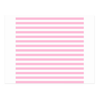 Thin Stripes - White and Cotton Candy Pink Postcard