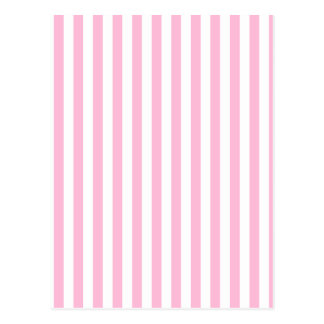 Thin Stripes - White and Cotton Candy Postcard