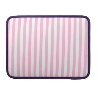 Thin Stripes - White and Cotton Candy Sleeve For MacBooks
