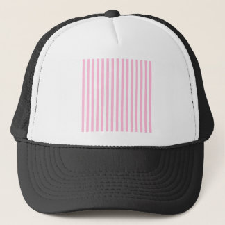 Thin Stripes - White and Cotton Candy Trucker Hat