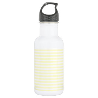 Thin Stripes - White and Cream 532 Ml Water Bottle