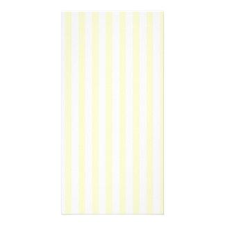 Thin Stripes - White and Cream Custom Photo Card
