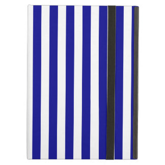 Thin Stripes - White and Dark Blue Cover For iPad Air
