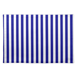 Thin Stripes - White and Dark Blue Placemat
