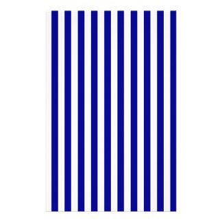 Thin Stripes - White and Dark Blue Stationery