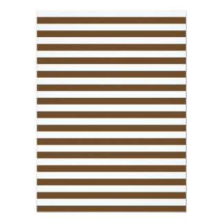 Thin Stripes - White and Dark Brown Card