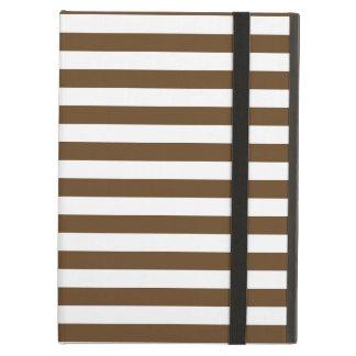Thin Stripes - White and Dark Brown Case For iPad Air