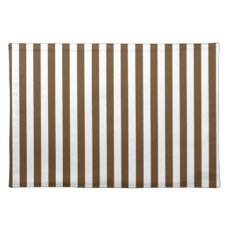 Thin Stripes - White and Dark Brown Place Mat