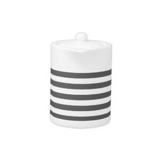 Thin Stripes - White and Dark Gray
