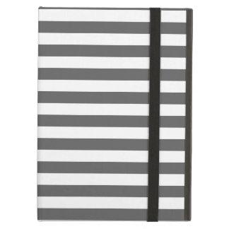 Thin Stripes - White and Dark Gray iPad Air Cover