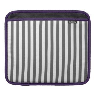 Thin Stripes - White and Dark Gray iPad Sleeve