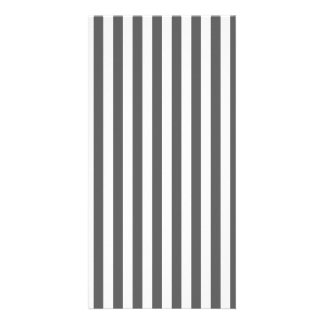 Thin Stripes - White and Dark Gray Photo Cards