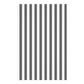 Thin Stripes - White and Dark Gray Stationery