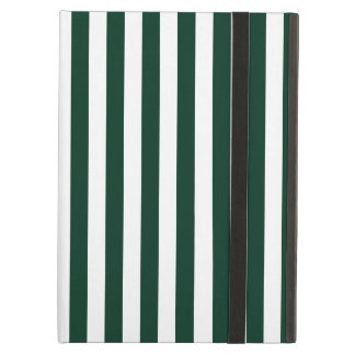 Thin Stripes - White and Dark Green Cover For iPad Air