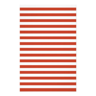 Thin Stripes - White and Dark Pastel Red Stationery