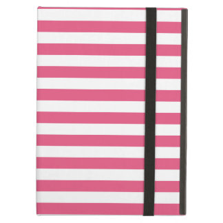 Thin Stripes - White and Dark Pink iPad Air Case