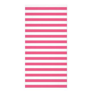 Thin Stripes - White and Dark Pink Photo Greeting Card