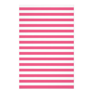 Thin Stripes - White and Dark Pink Stationery