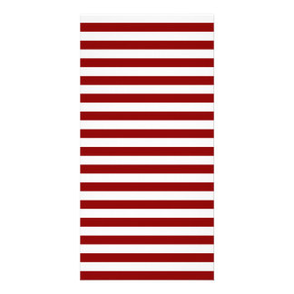 Thin Stripes - White and Dark Red Customised Photo Card