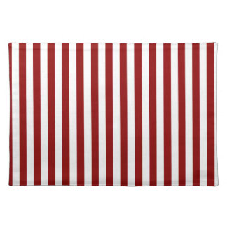 Thin Stripes - White and Dark Red Placemat