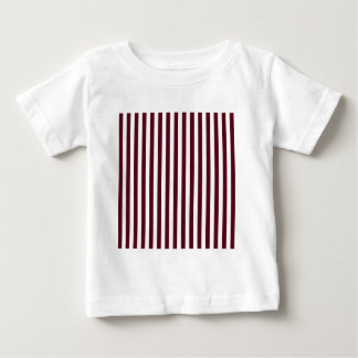 Thin Stripes - White and Dark Scarlet Baby T-Shirt